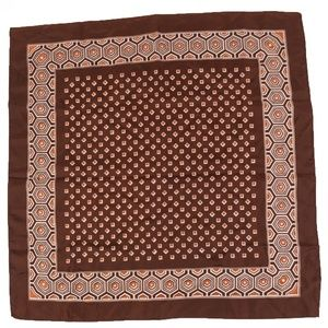 Vintage Brown Fall Geometric Honeycomb Scarf